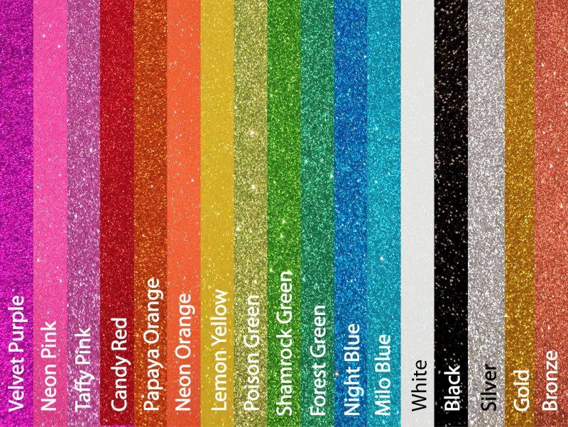 glitterfoam kleuren