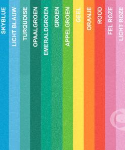 foam kleuren overzicht